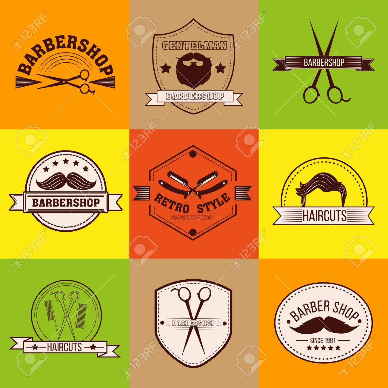 Clip art vector of vintage barber shop logo graphics and icon vector - Barber Shop Barber Logo Barber Label Gentleman Style Men S Fashion Barber