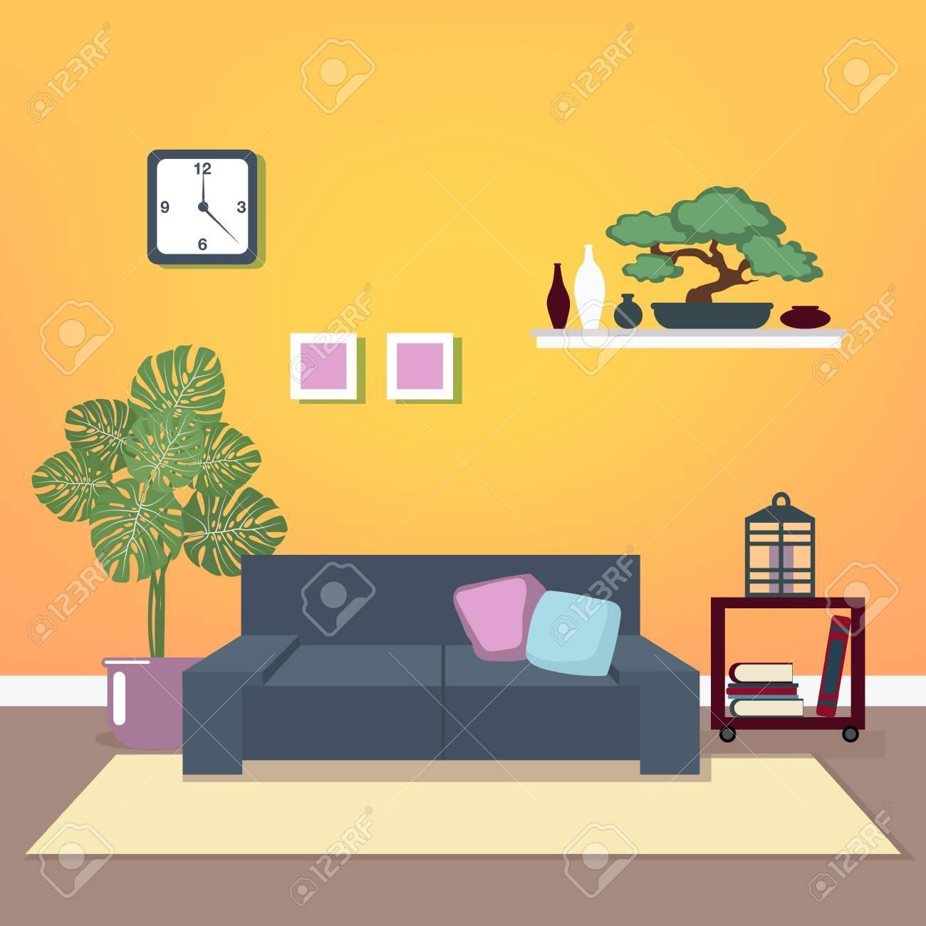Moderne Inter. Wohnzimmer. Raum-Design. Minimalismusart. Zimmer Mit ...