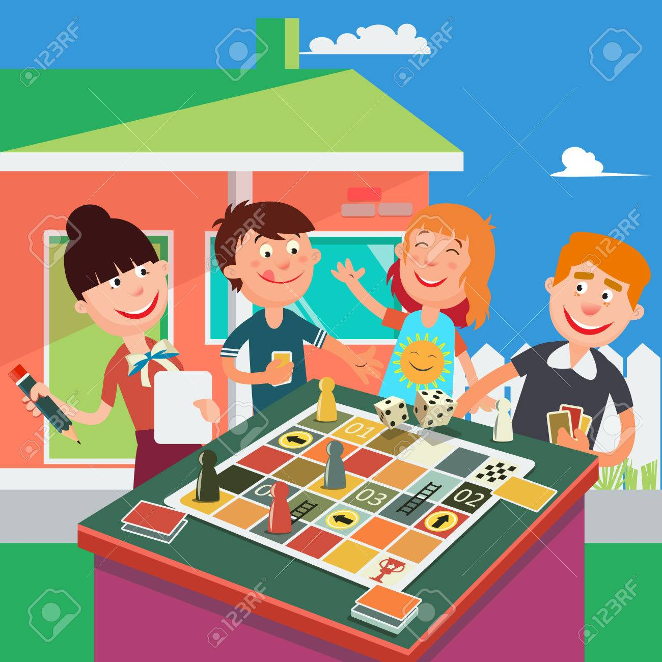 Family Board Games, Family Clipart, Games Clipart, - Family Playing Board  Game Cartoon , Free Transparent Clipart - ClipartKey