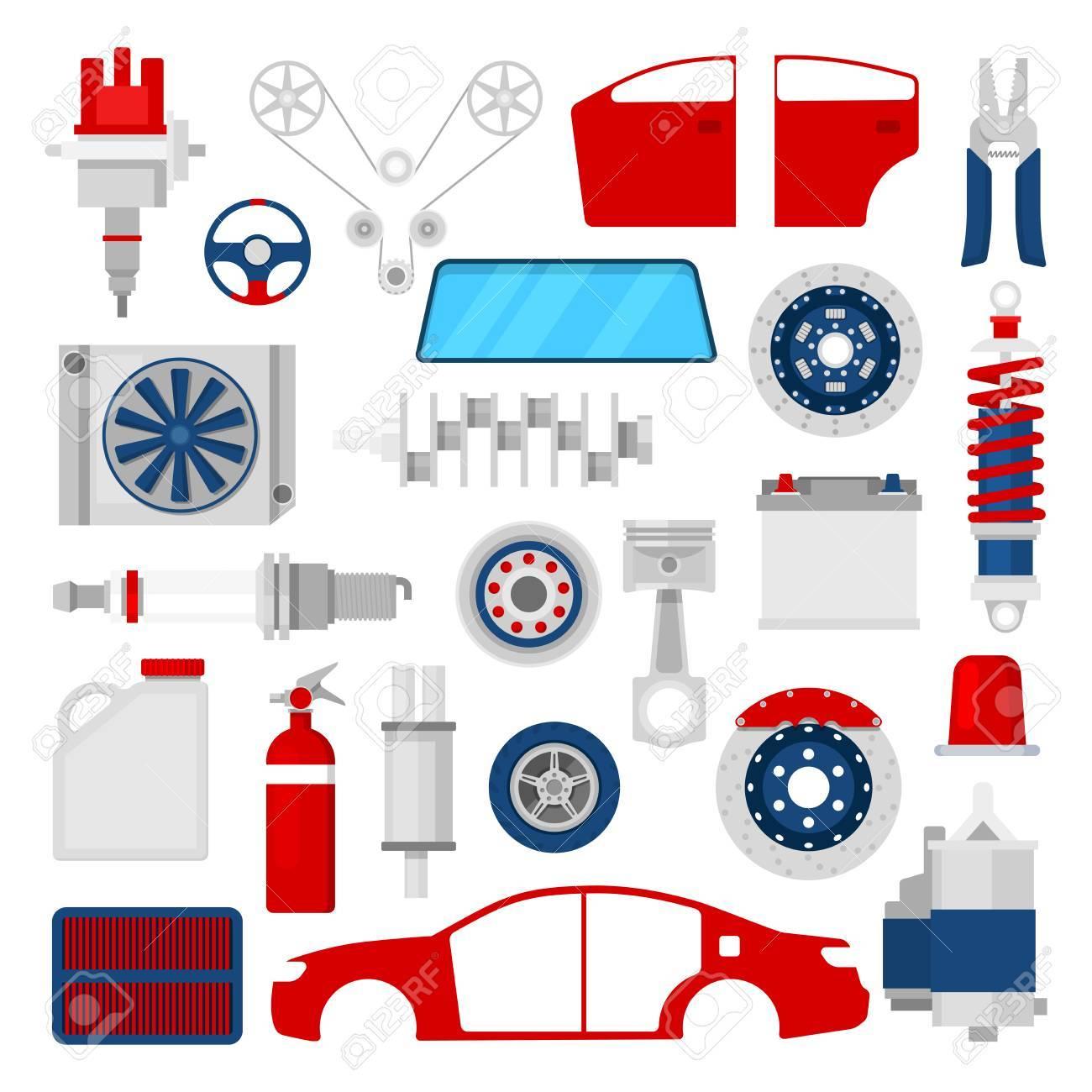 Car Parts Stock Illustrations, Cliparts And Royalty Free Car Parts Vectors