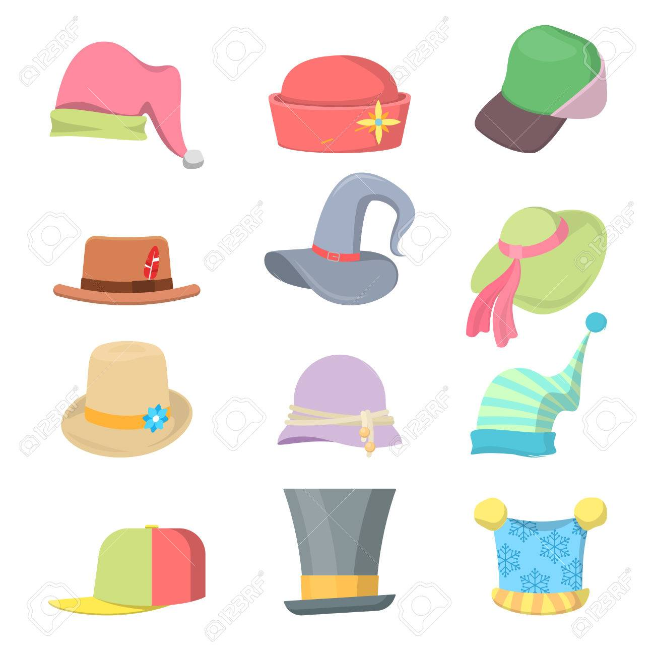 26e8bdb1117 Headwear Collection Hats Set. Vector illustration Stock Vector - 69293204