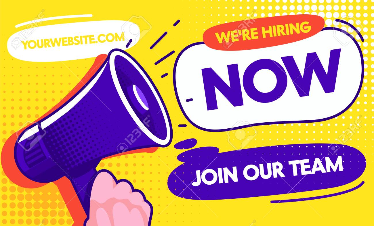 Now Hiring Job Opportunity Concept Banner Template Vacancy Promotion Royalty Free Cliparts Vectors And Stock Illustration Image 123179225