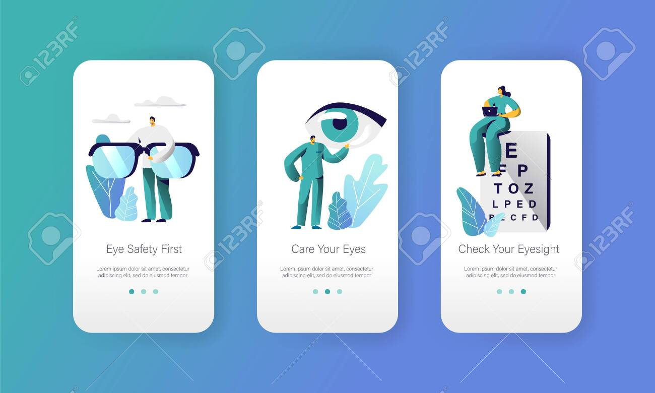 Ophthalmologist Doctor Test Eyesight on Text Chart Mobile App
