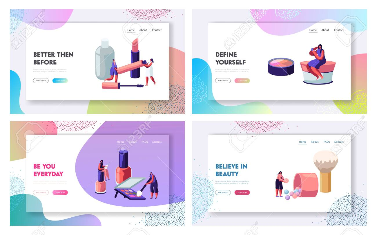 Women In Beautician Parlor Female Characters Testing Skin Care Royalty Free Cliparts Vectors And Stock Illustration Image 128442672