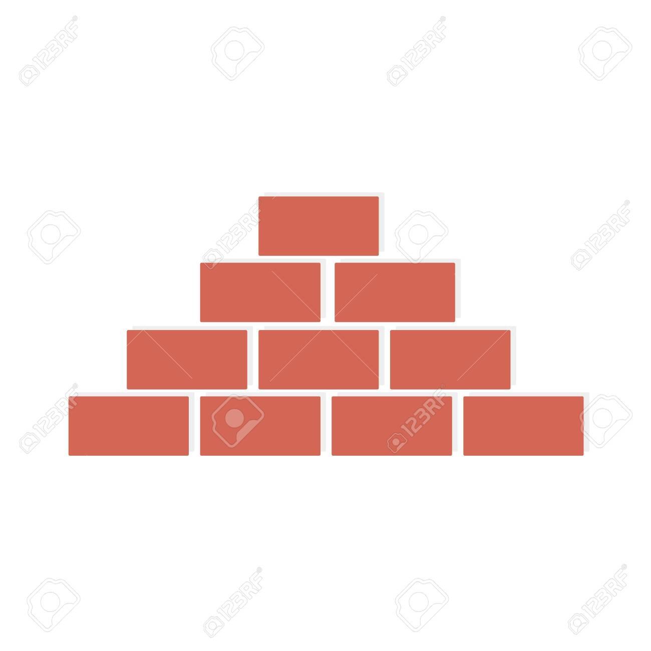 Brick wall on white background. - 144411710