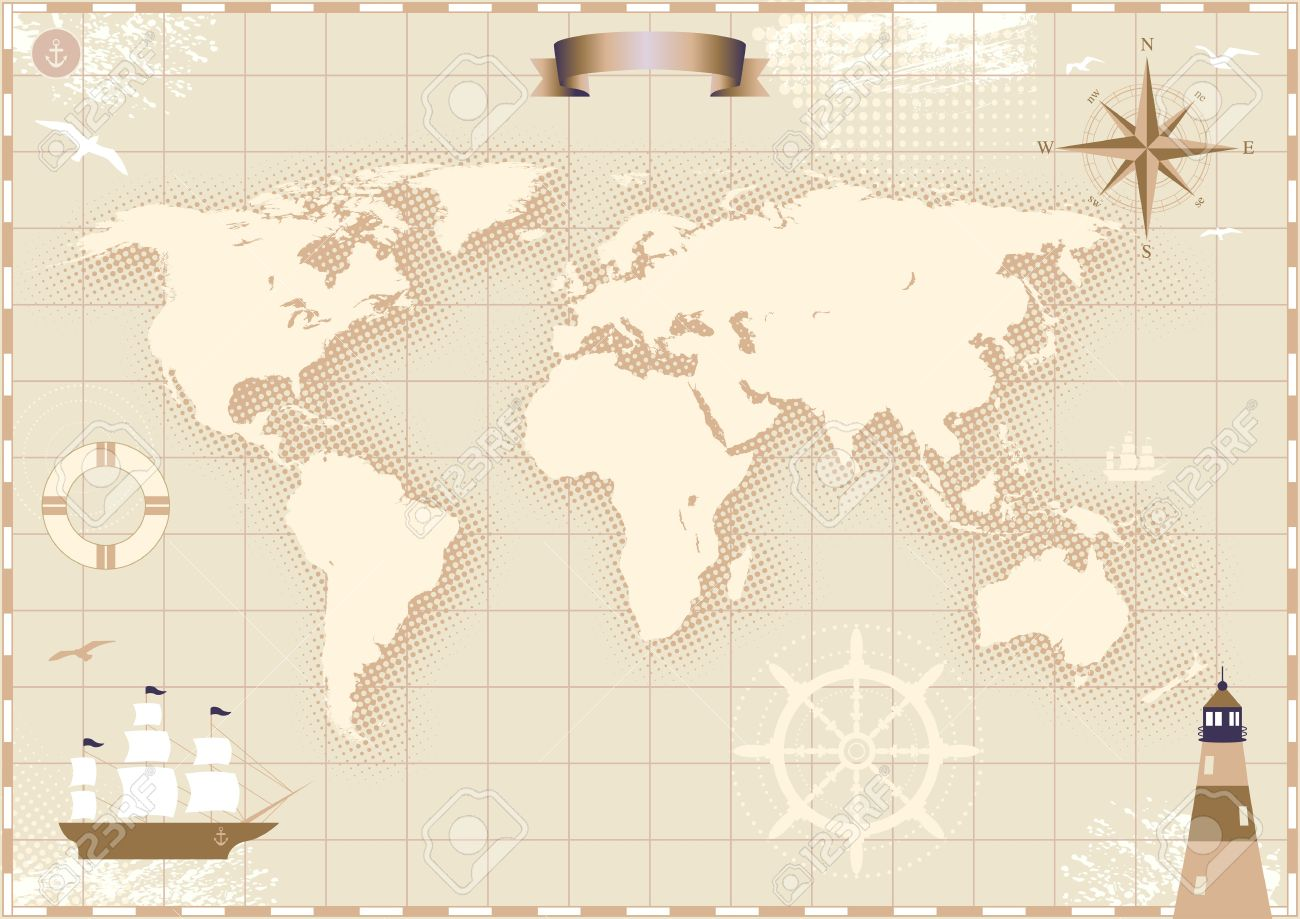 Image of an old paper world map royalty free cliparts vectors and image of an old paper world map stock vector 11159799 gumiabroncs Choice Image