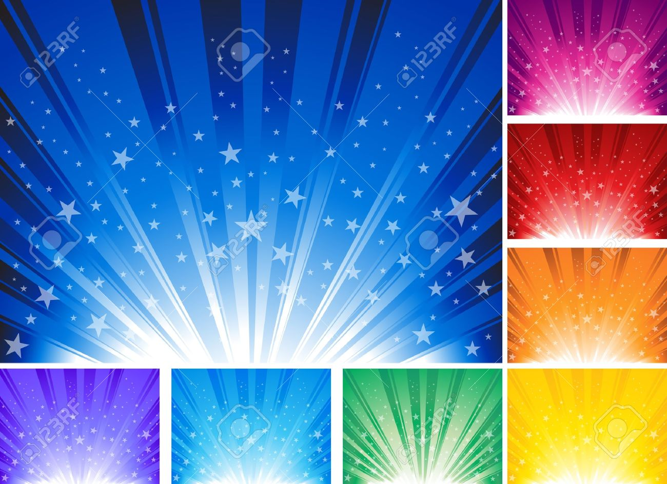 Abstract background with stars. Illustration Ai 10 document. - 11661323