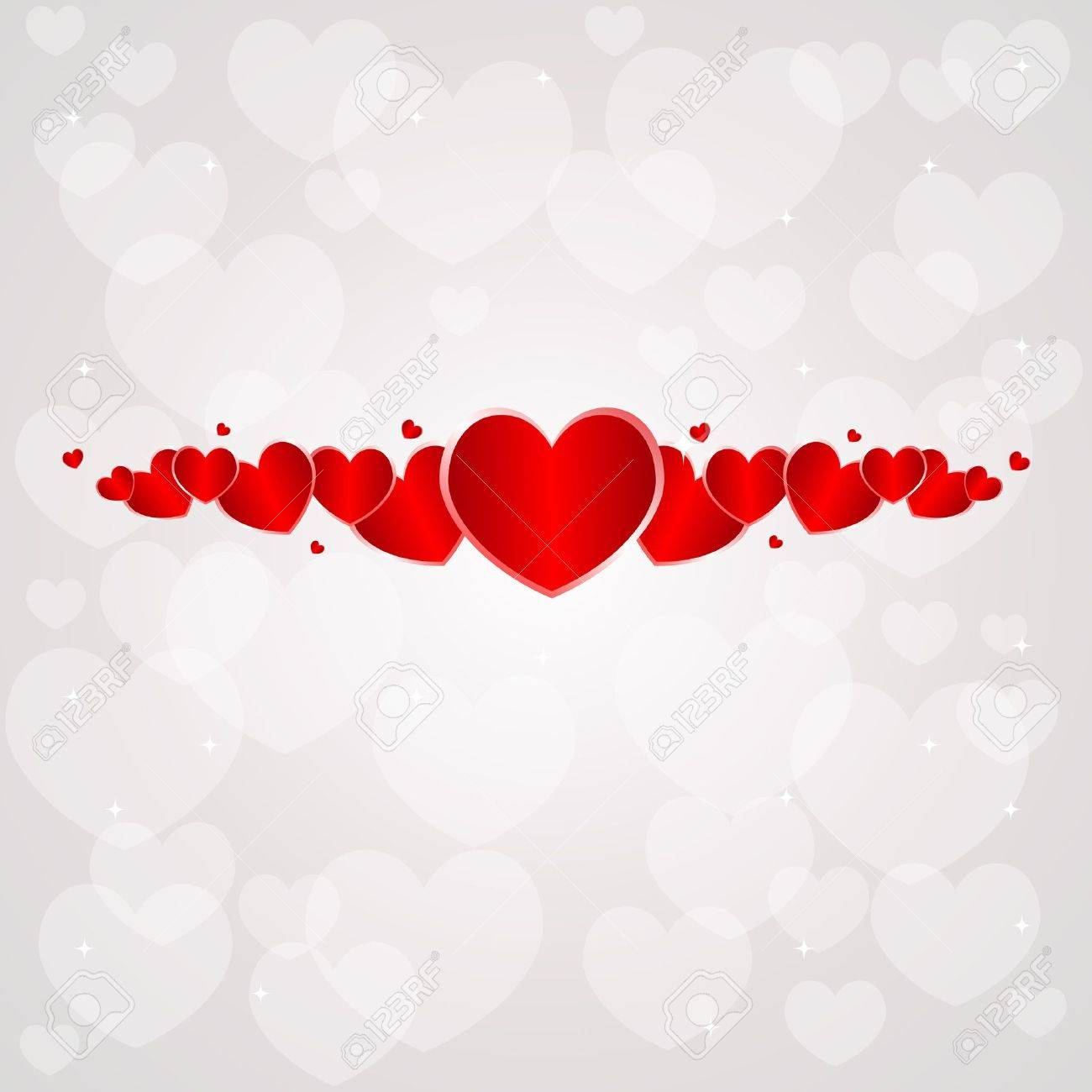 Saint Valentine Day Background With Hearts. Royalty Free Cliparts ...