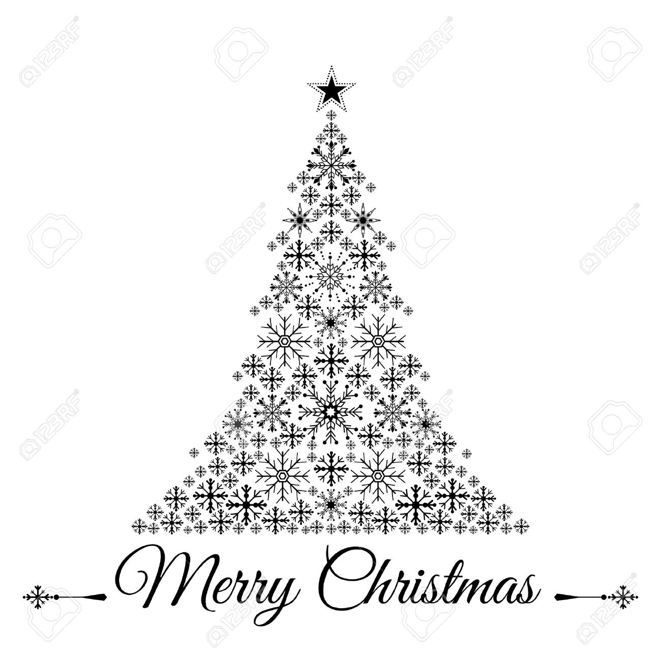 Stylized Christmas Tree Vector Illustration Royalty Free Cliparts