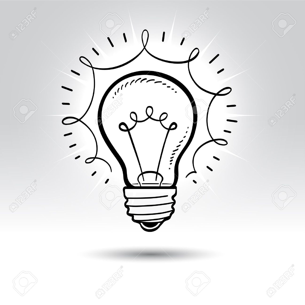 Light Bulb Drawing. Royalty Free Cliparts, Vectors, And Stock ... for Lamp Bulb Drawing  565ane