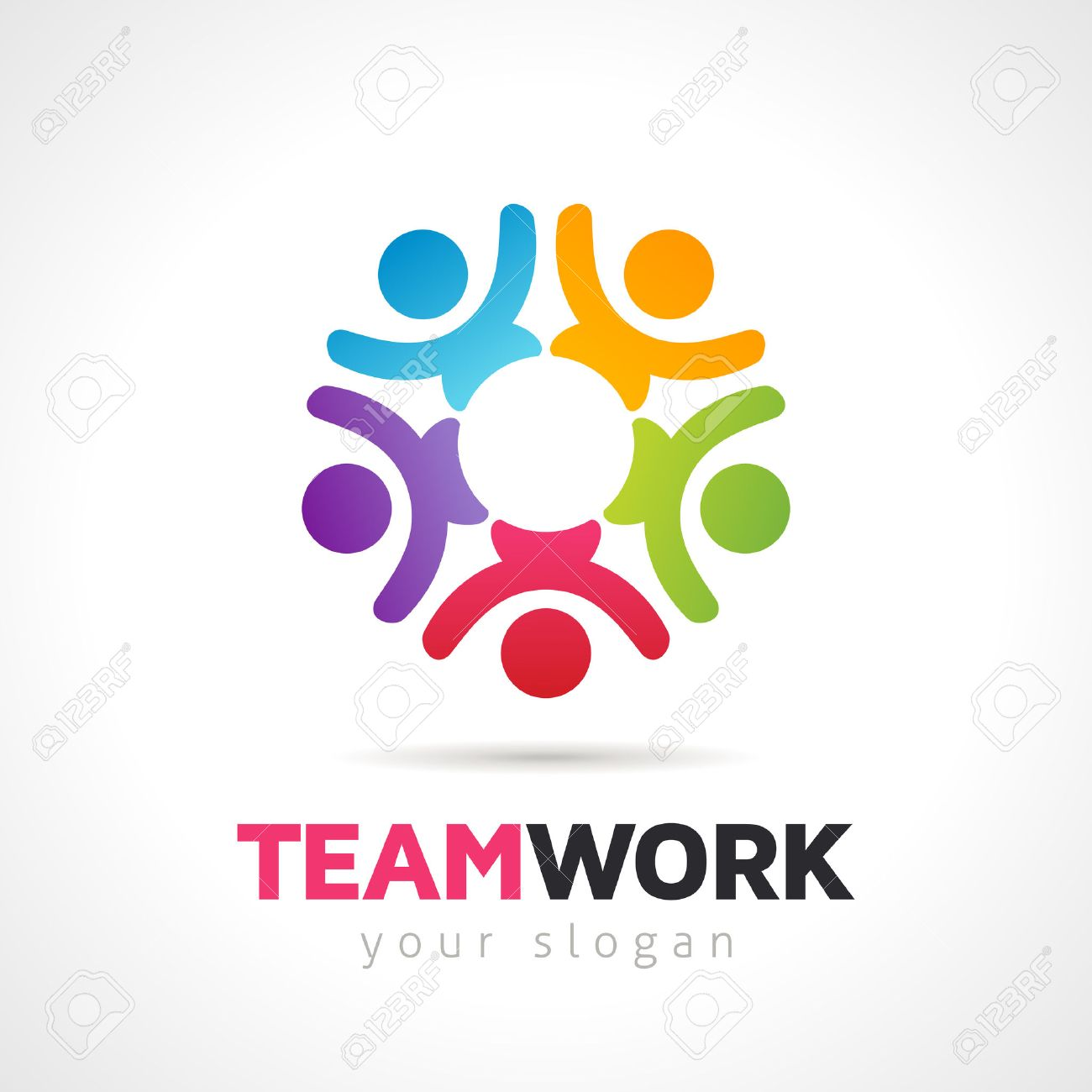 Vector Teamwork Concept, Group Of People Symbol Logo Template.EPS ...