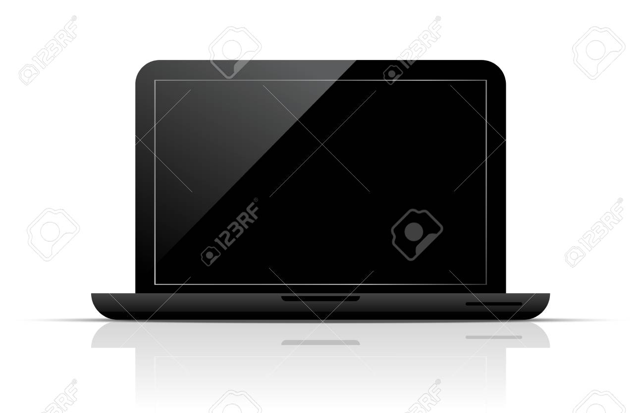 Black laptop Stock Vector - 14284111