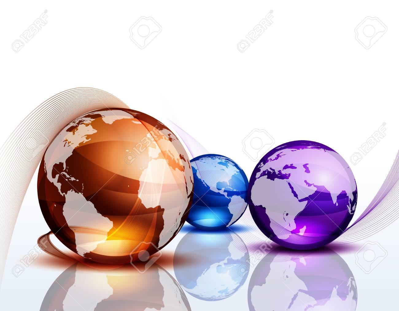 Graphic background with color globes Stock Vector - 17311949