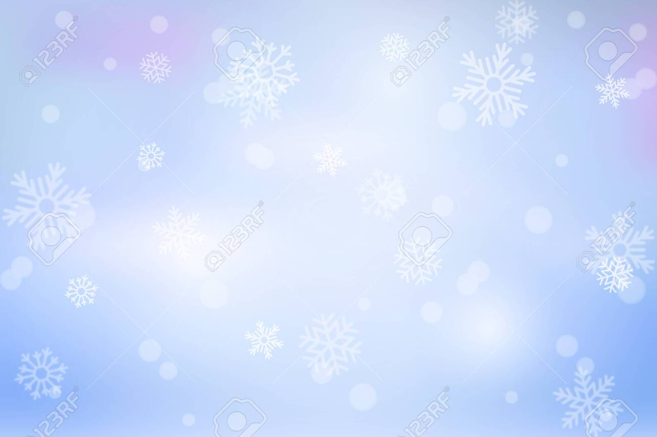 Vector heavy snowfall, snowflakes in different shapes and forms. Snow flakes, snow background. Falling Christmas. - 144157885