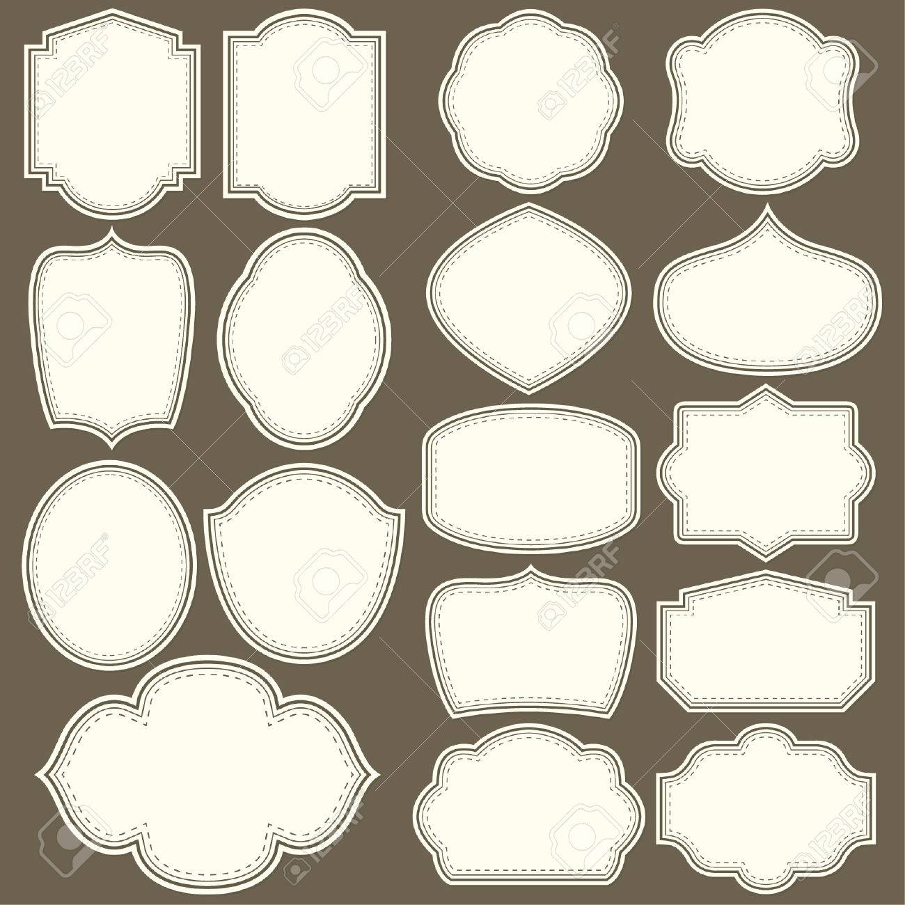 Labels shapes for all design  Blank labels set  Tag silhouettes