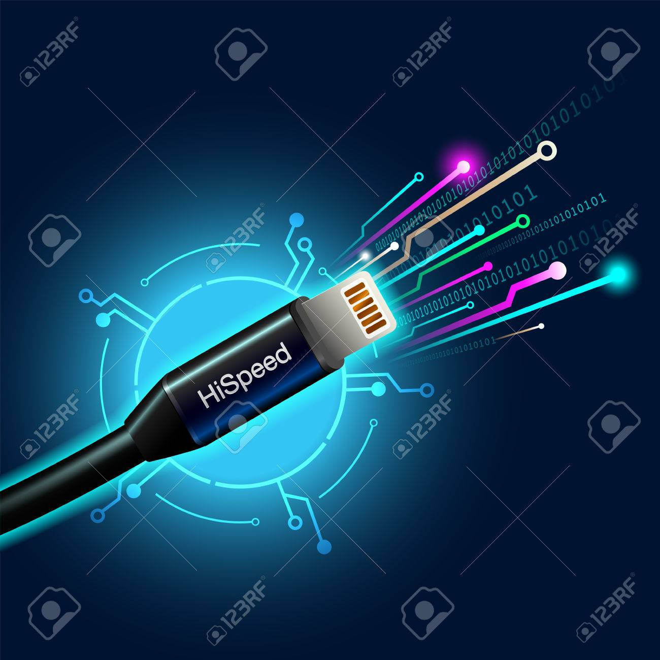 Cable high speed internet  Broadband fiber optic cable connection