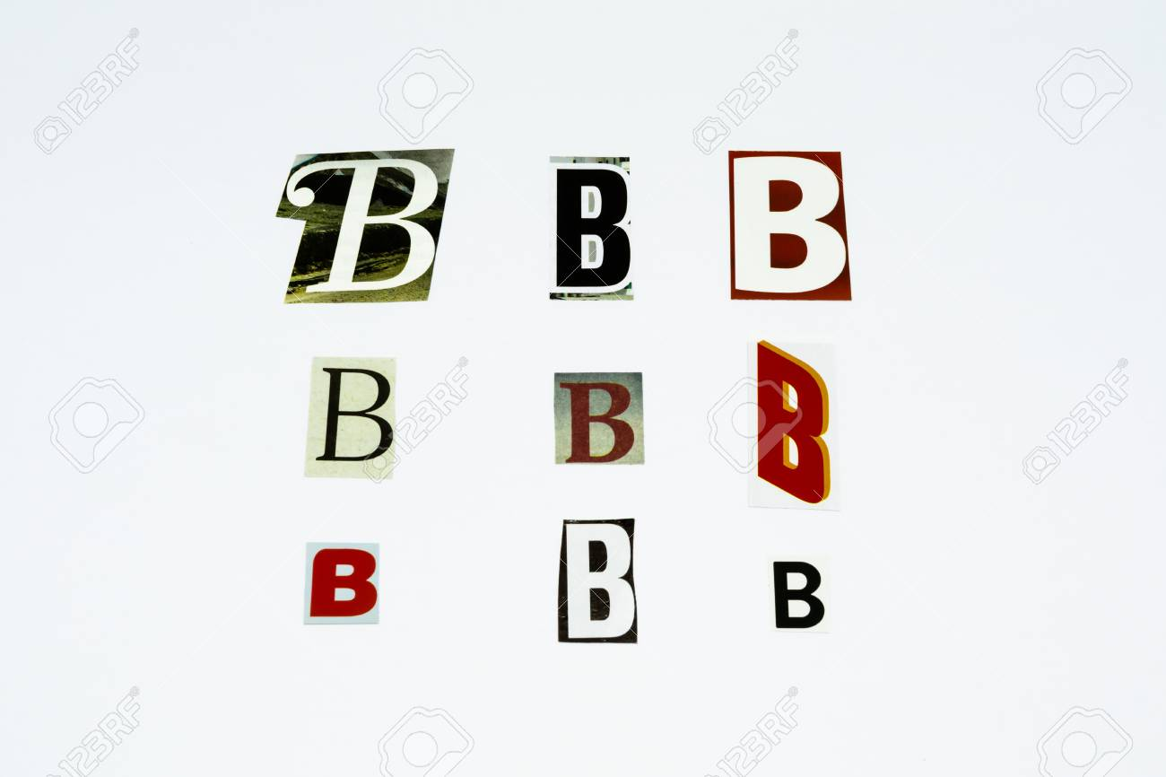 Set of collection colorful newspaper cut out letters as ornaments set of collection colorful newspaper cut out letters as ornaments or design elements isolated on spiritdancerdesigns Gallery