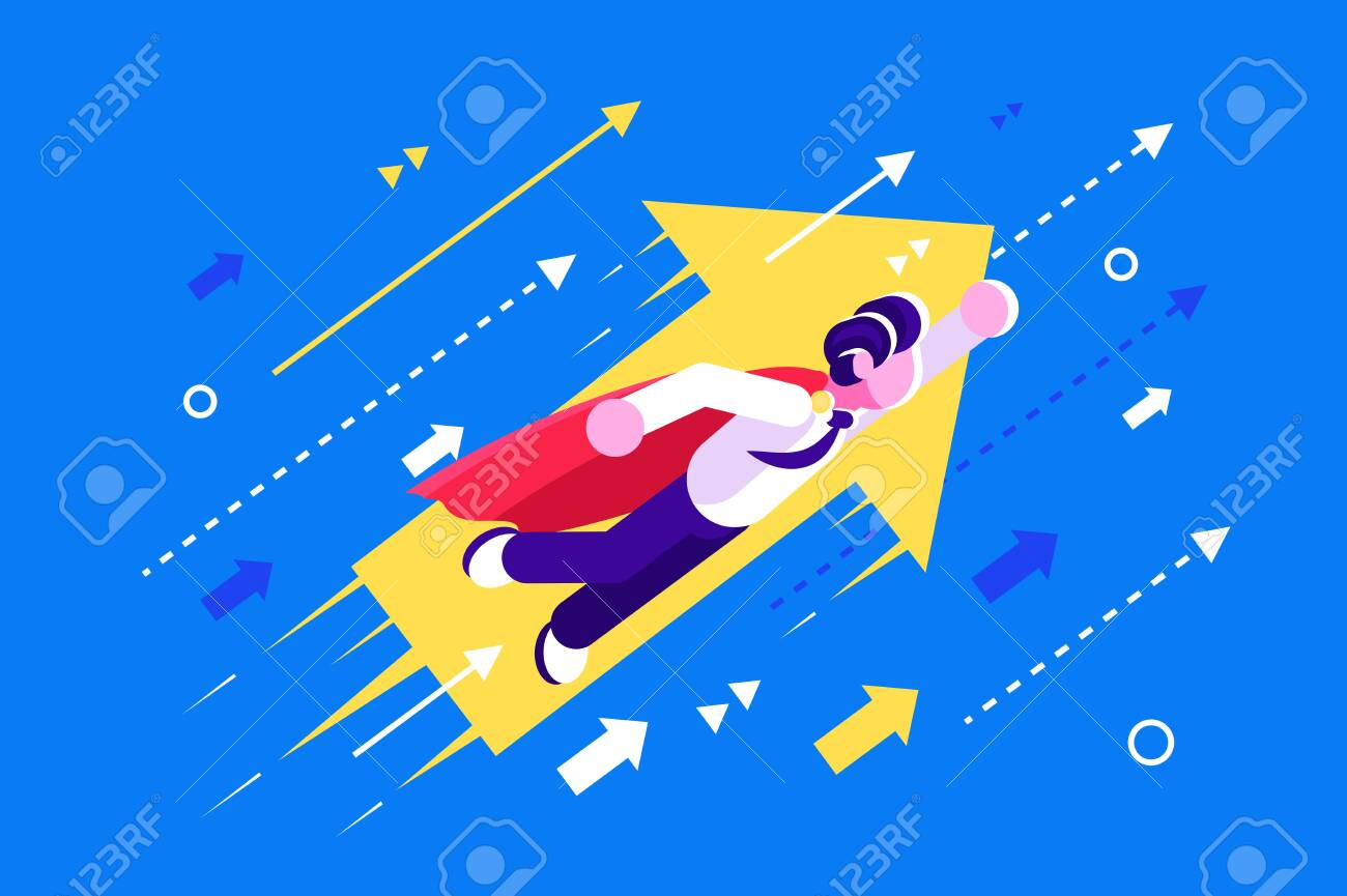 Career Growth Career Start Up For Web Page Banner Social Royalty Free Cliparts Vectors And Stock Illustration Image 128222786