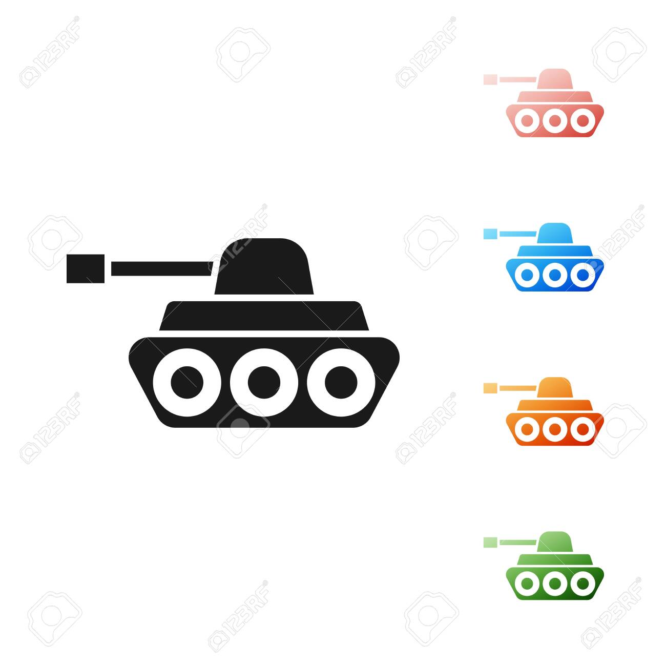 black military tank icon isolated on white background set icons royalty free cliparts vectors and stock illustration image 131417091 123rf com