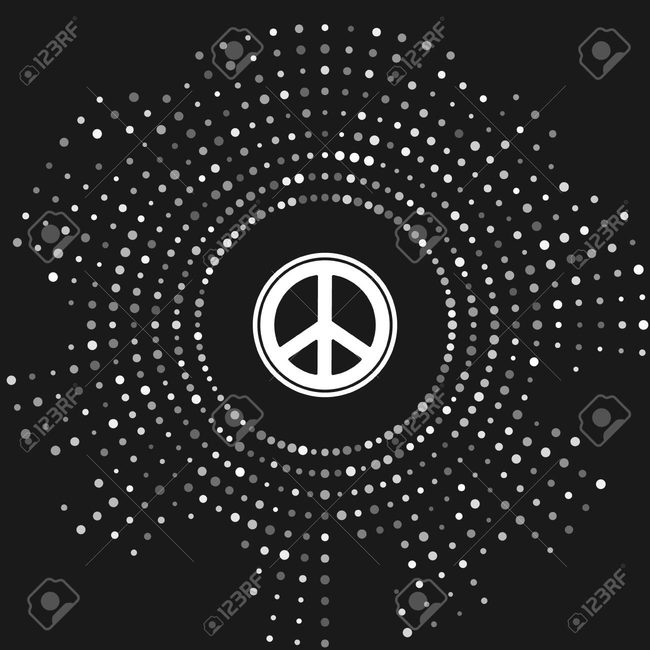 White Peace Icon Isolated On Grey Background Hippie Symbol Of Royalty Free Cliparts Vectors And Stock Illustration Image 136718472 Classy and luxury | black and white aesthetic, eiffel tower, travel. 123rf