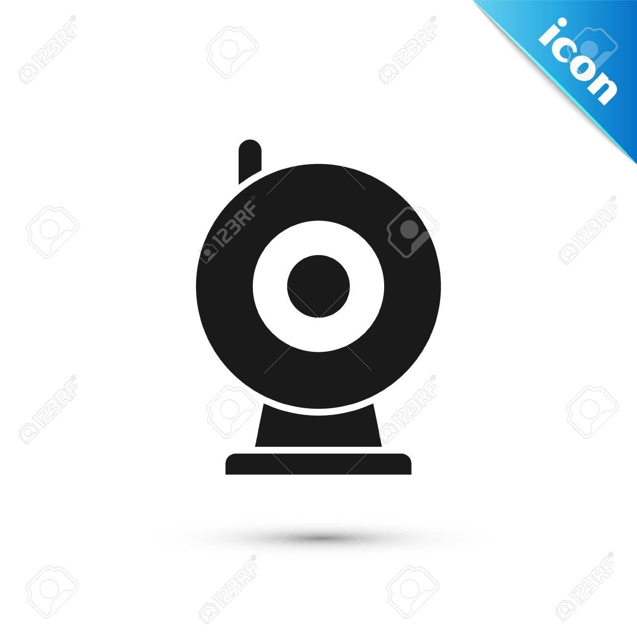 Black Web camera icon isolated on white background. Chat camera. Webcam icon. Vector Illustration - 137275888