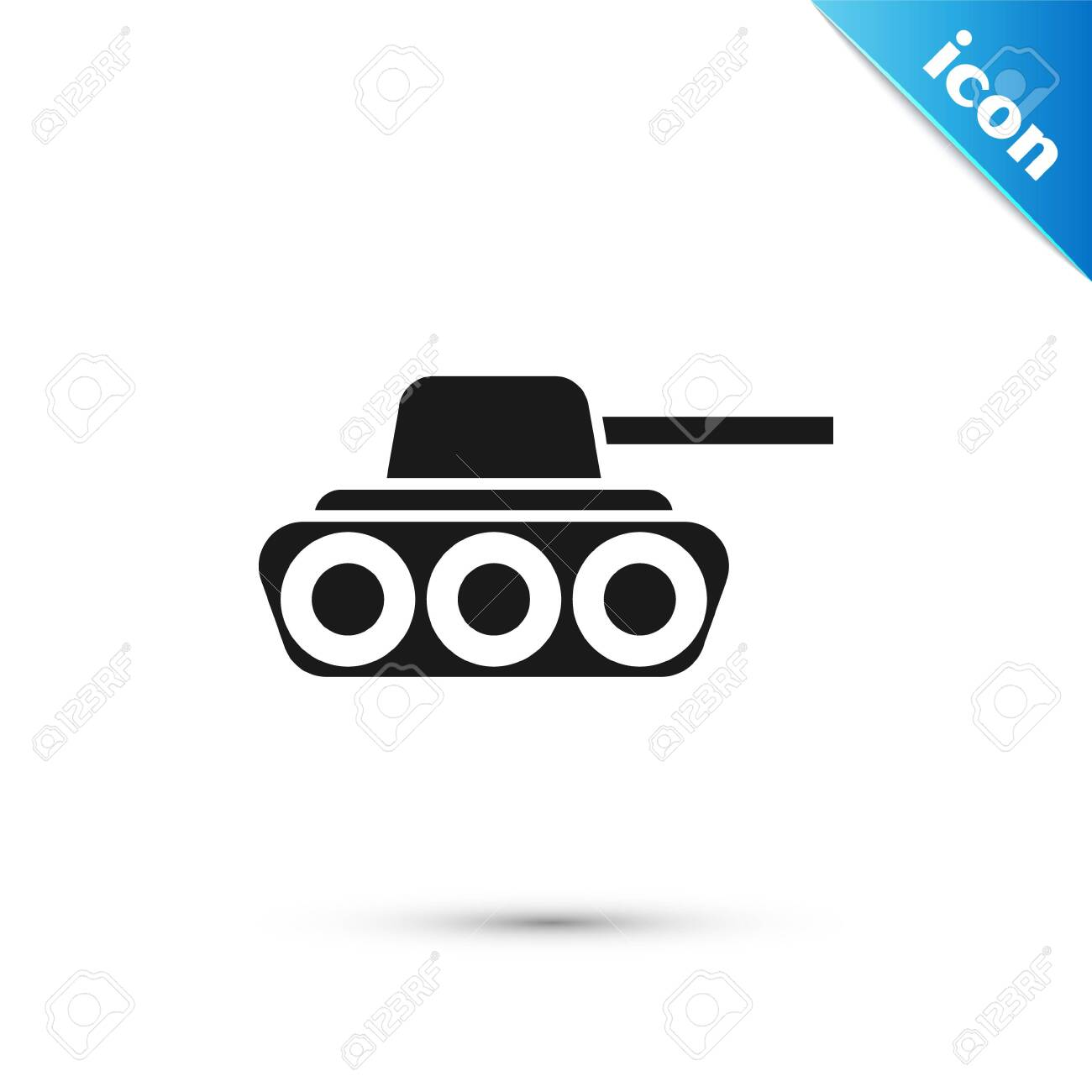 black military tank icon isolated on white background vector royalty free cliparts vectors and stock illustration image 137298405 123rf com