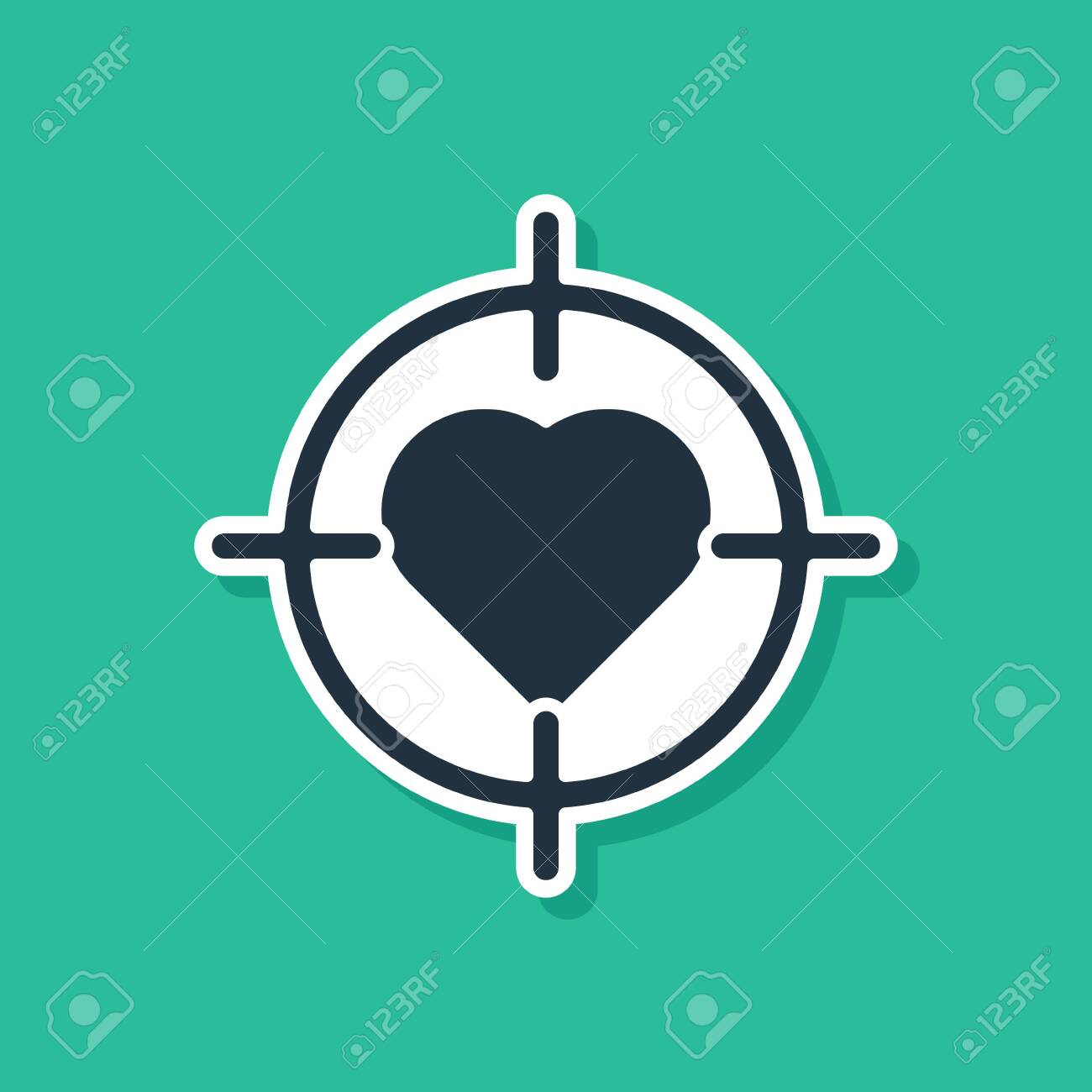 blue heart in the center of darts target aim icon isolated on royalty free cliparts vectors and stock illustration image 142460346 123rf com