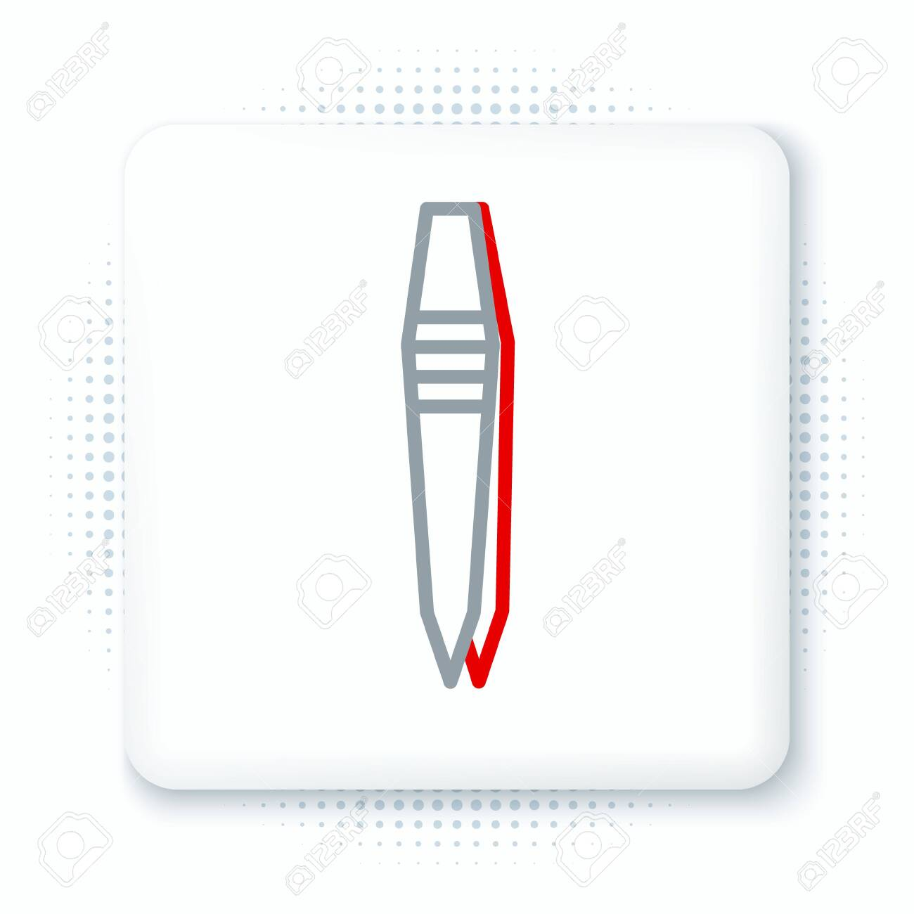 Line Tweezers icon isolated on white background. Colorful outline concept. Vector. - 151055727