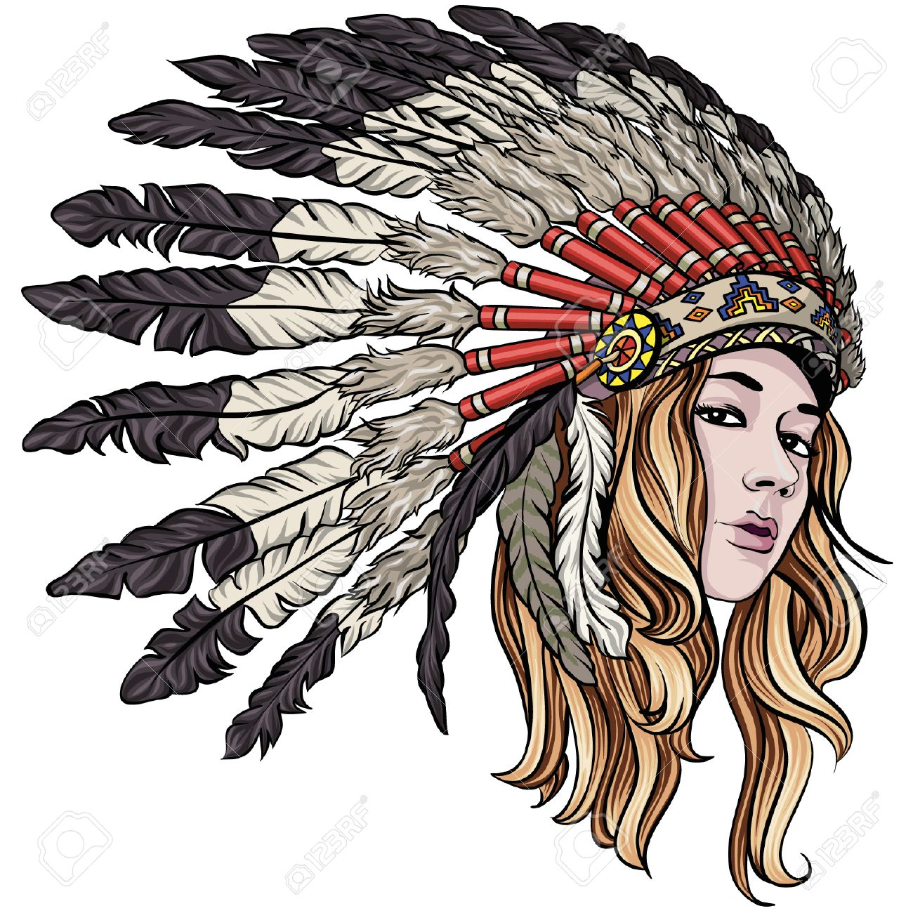 Native - Native American Headdress Transparent Clipart (#1361596) -  PinClipart