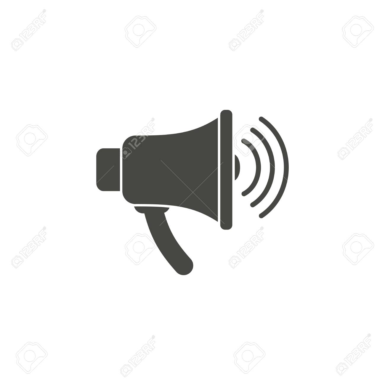 loudspeaker vector icon in black on a white background royalty free cliparts vectors and stock illustration image 45504305 loudspeaker vector icon in black on a white background
