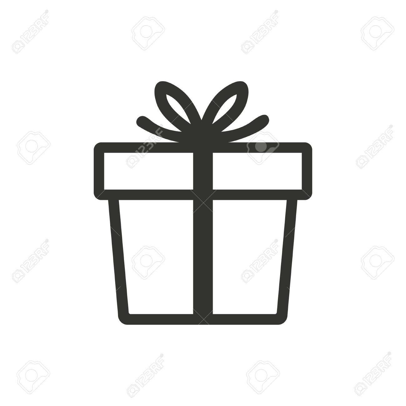 Gift box icon on white background vector illustration royalty free gift box icon on white background vector illustration stock vector 49687083 negle Image collections