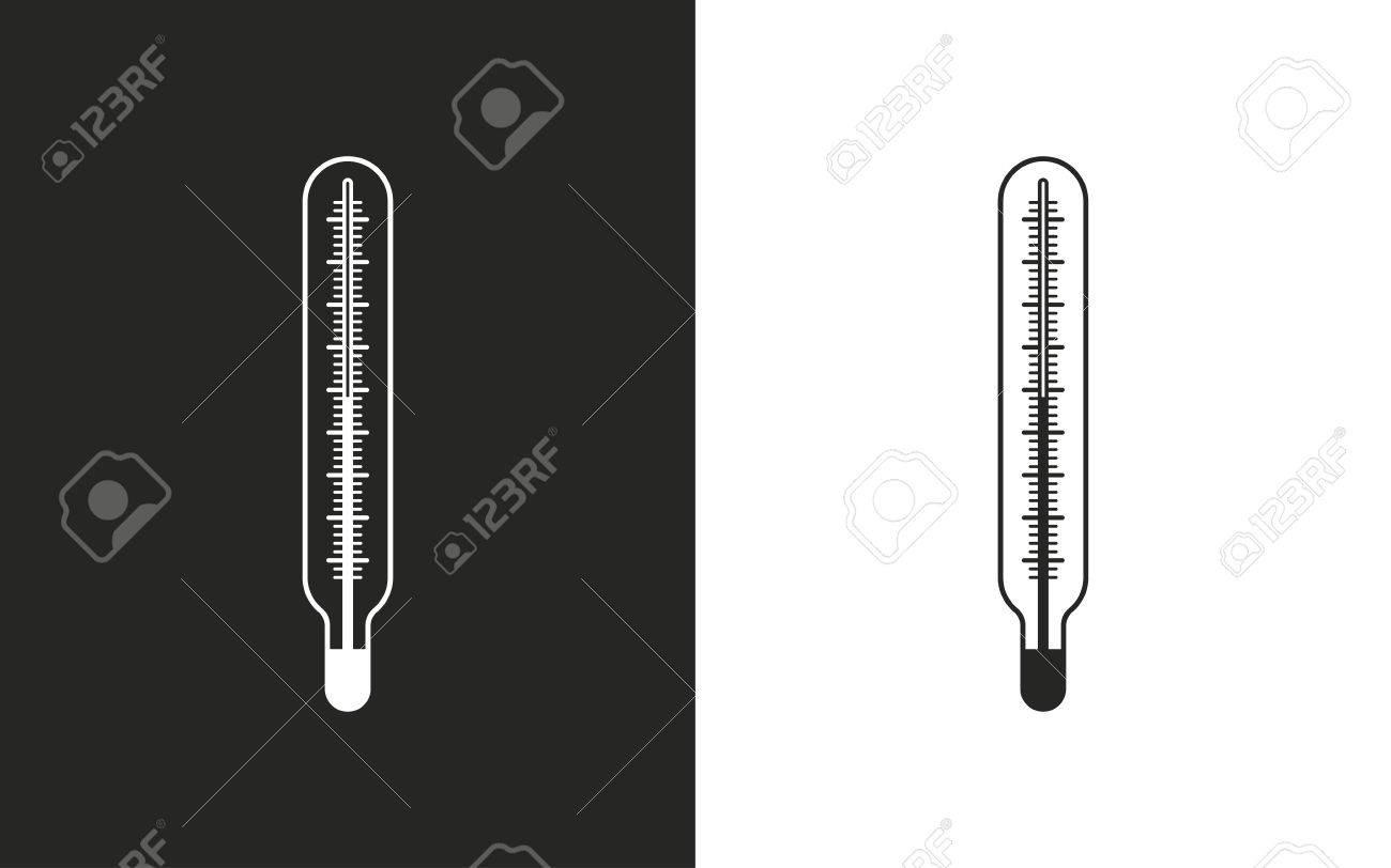 Termometro De Mercurio Iconos En Blanco Y Negro Ilustracion Vectorial Ilustraciones Vectoriales Clip Art Vectorizado Libre De Derechos Image 50588438 Termómetro de plástico negro, de grandes dimensiones y muy visual. termometro de mercurio iconos en blanco y negro ilustracion vectorial