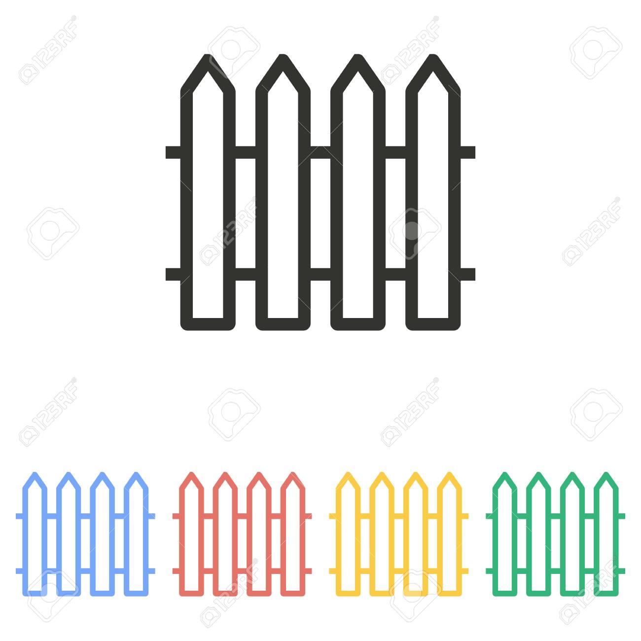 Zaun-Symbol Auf Weißem Hintergrund. Vektor-Illustration. Lizenzfrei ...