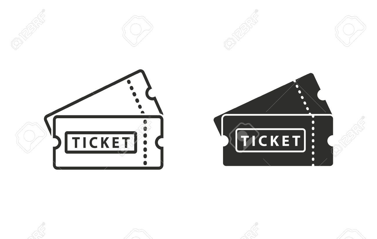Ticket icon on white background. Vector illustration. - 52162373