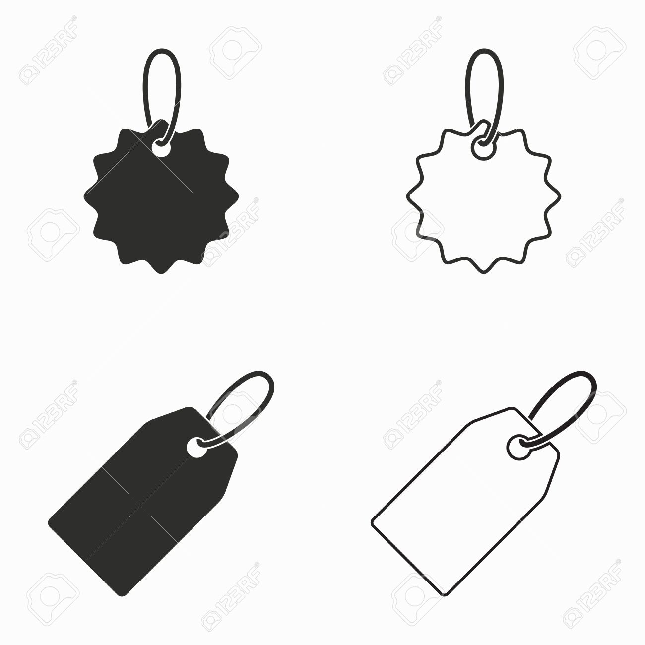 price tag vector icons set black illustration isolated on royalty rh 123rf com price tag vector png price tag vector free download