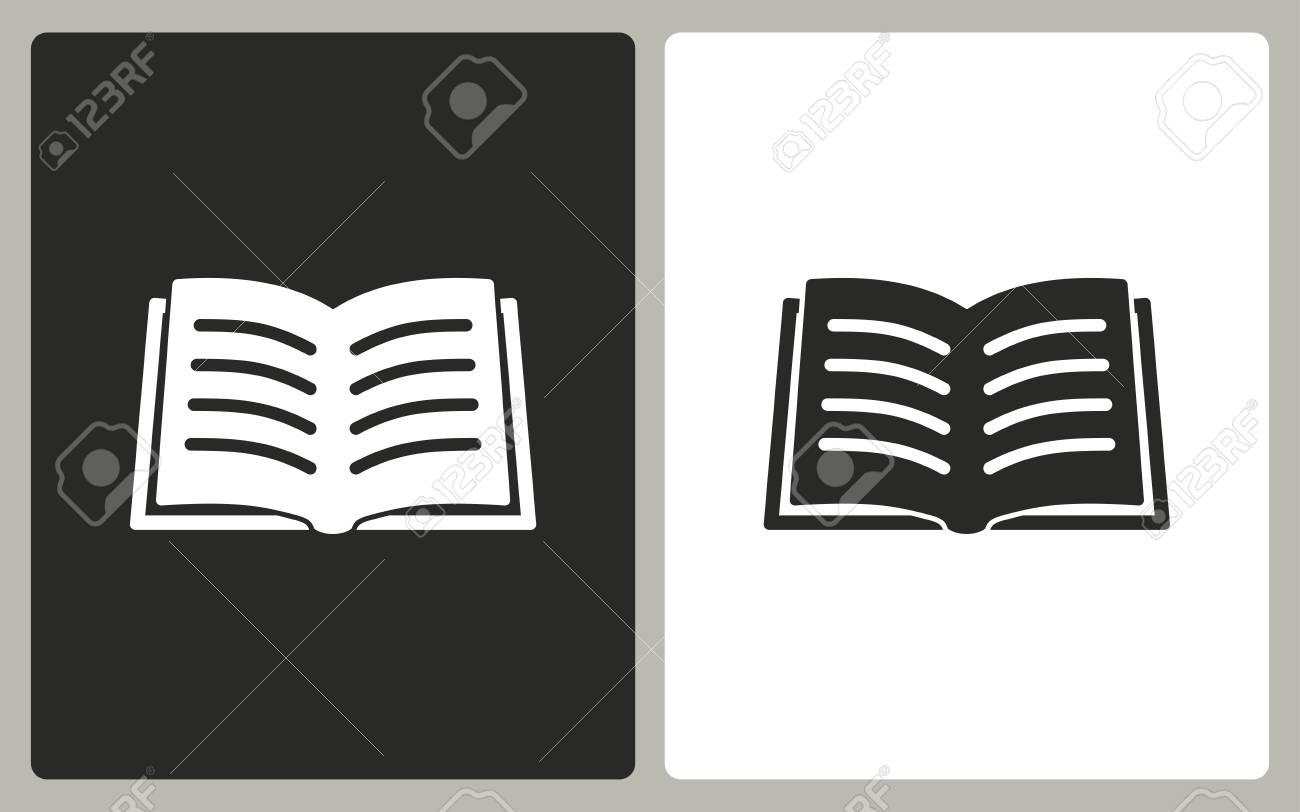 Livre Noir Et Blanc Icones Vector Illustration