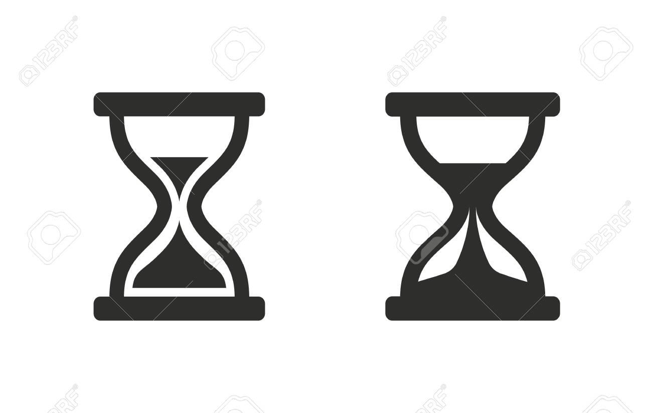 icono del vector de reloj de arena negro ilustraci n aislado sobre rh es 123rf com hourglass vector free hourglass vector graphic free