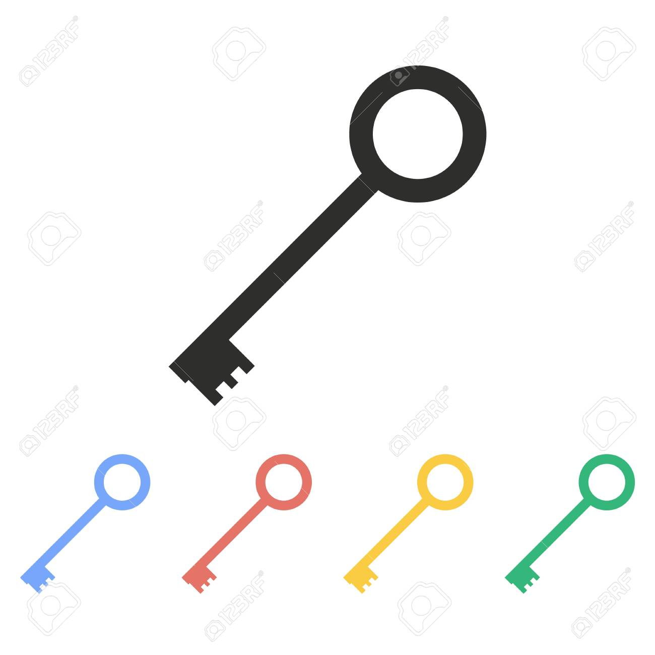key vector icon illustration isolated on white background for rh 123rf com key vector graphic key vector freepik