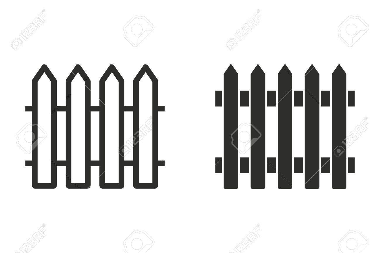 Zaun Vektor Symbol Illustration Auf Weissem Hintergrund Fur Grafik