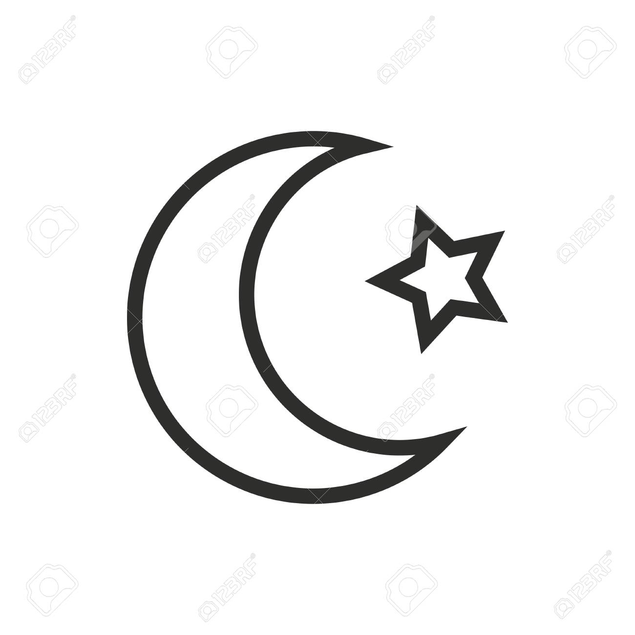 Art Moon And Star Design