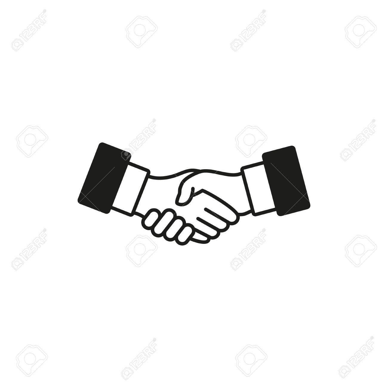 handshake vector icon illustration isolated on white background rh 123rf com handshake vector image vector handshake icon