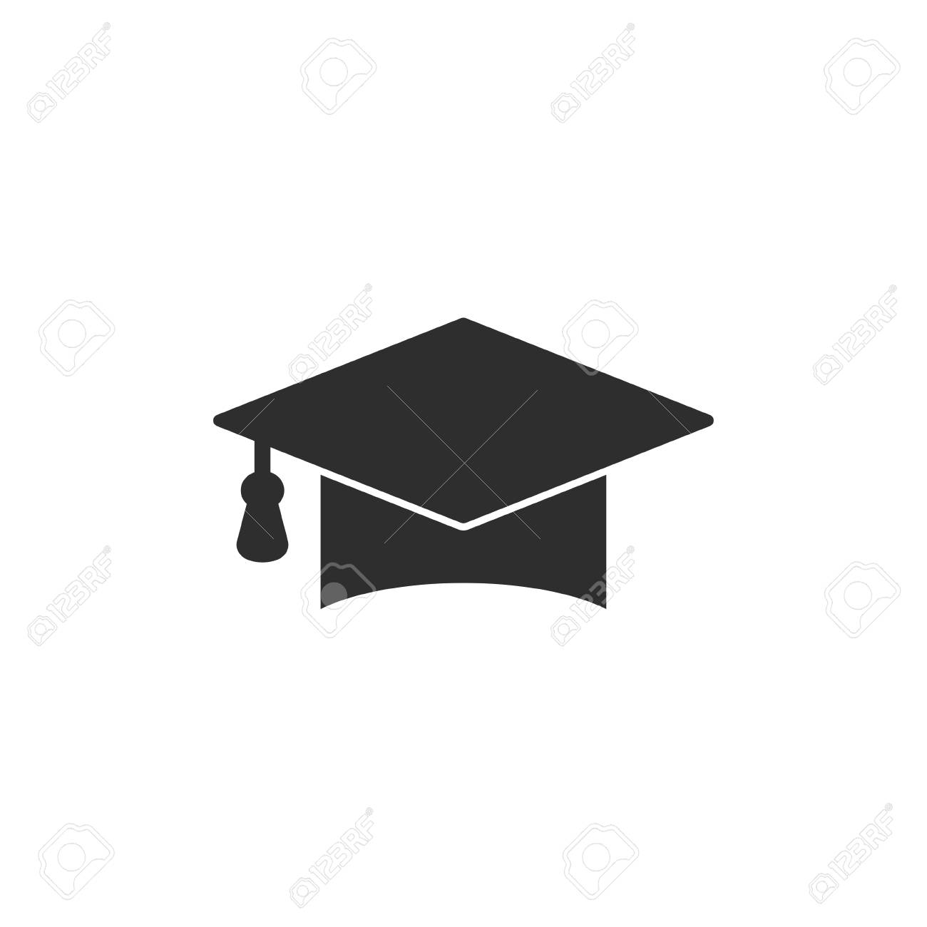 855260040d8 Graduation cap vector icon. Black illustration isolated on white background  for graphic and web design