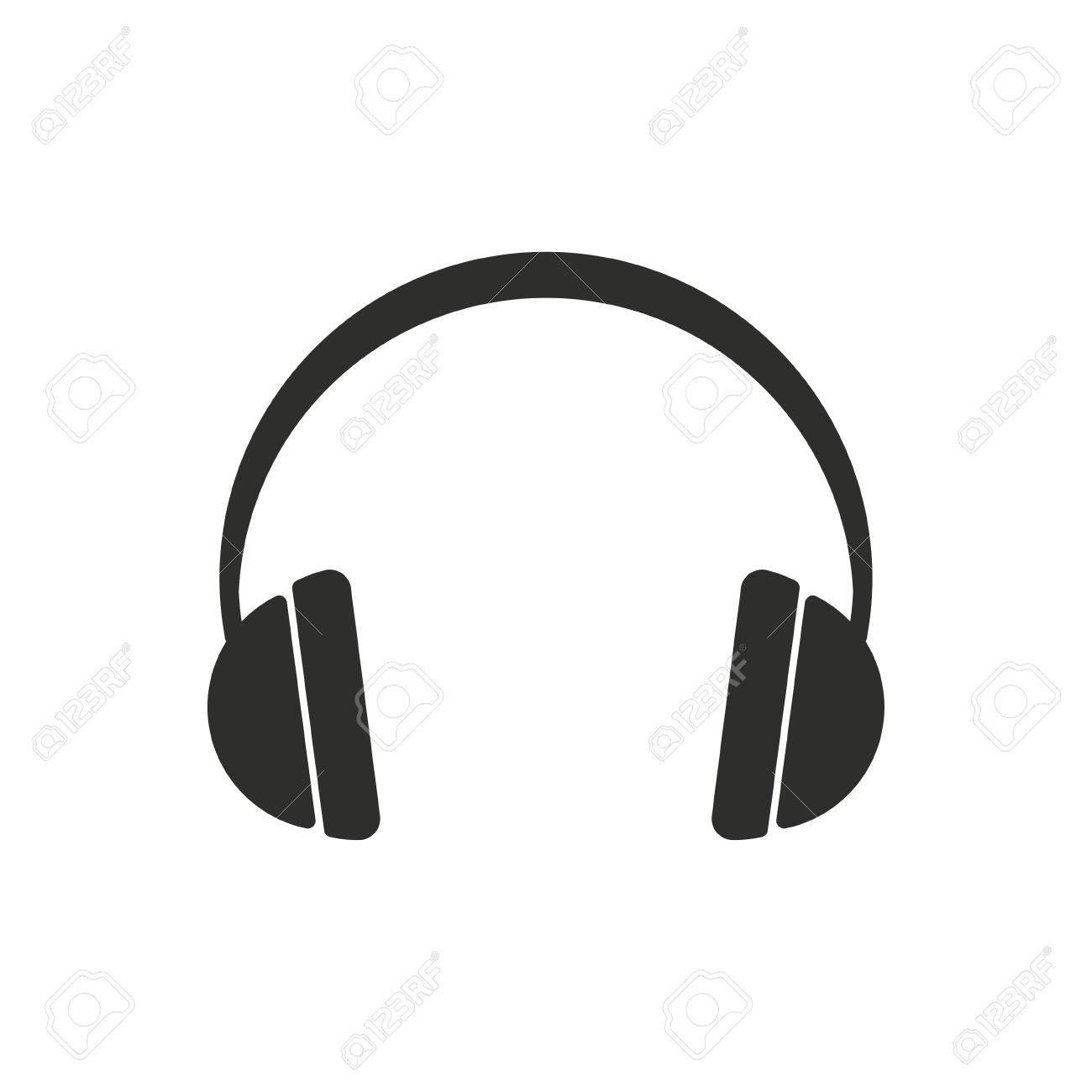headphone vector icon black illustration isolated on white rh 123rf com headphone vector icon headphone vector art