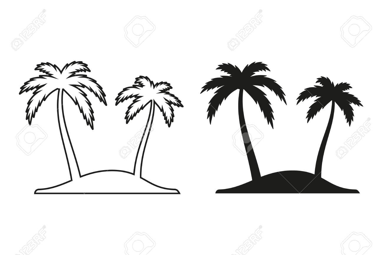 palm tree vector icon black illustration isolated on white rh 123rf com clip art palm tree vector free download clip art palm tree vector free download
