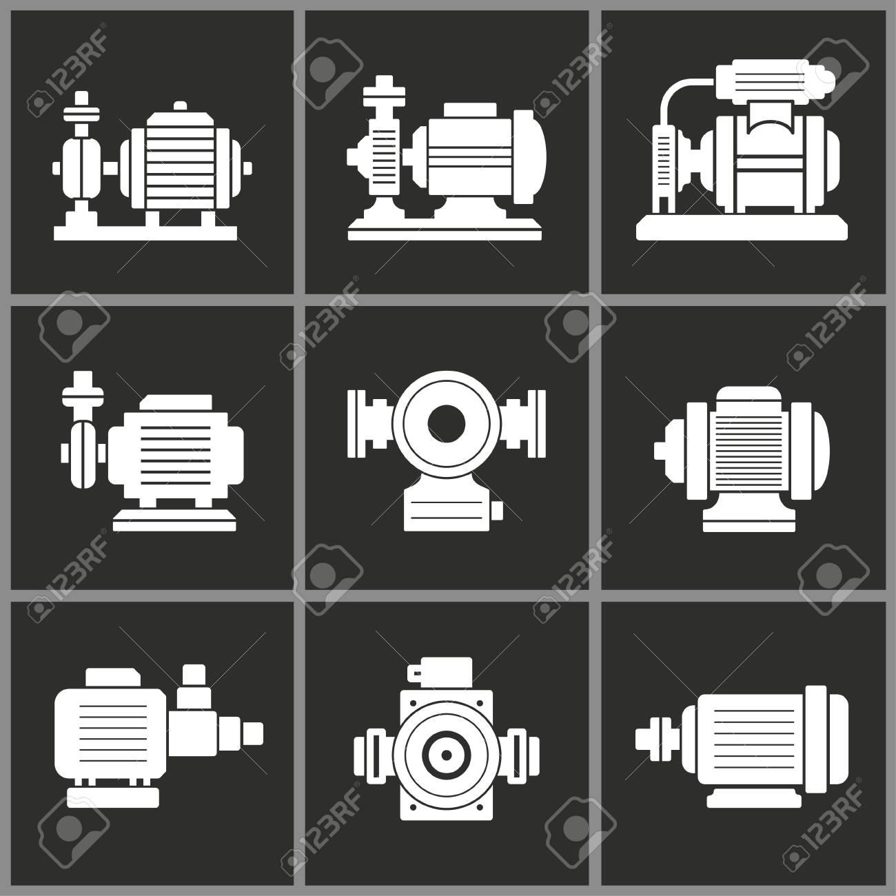 Water Pump Icon Motor Vector Illustration Compressor Symbol