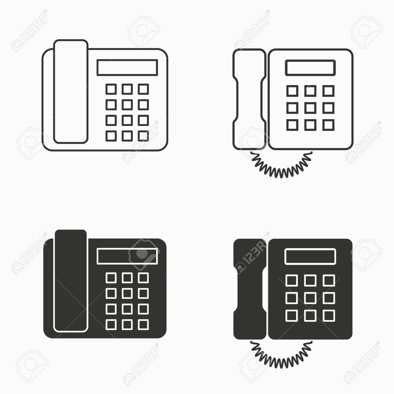 Vector office phone icon