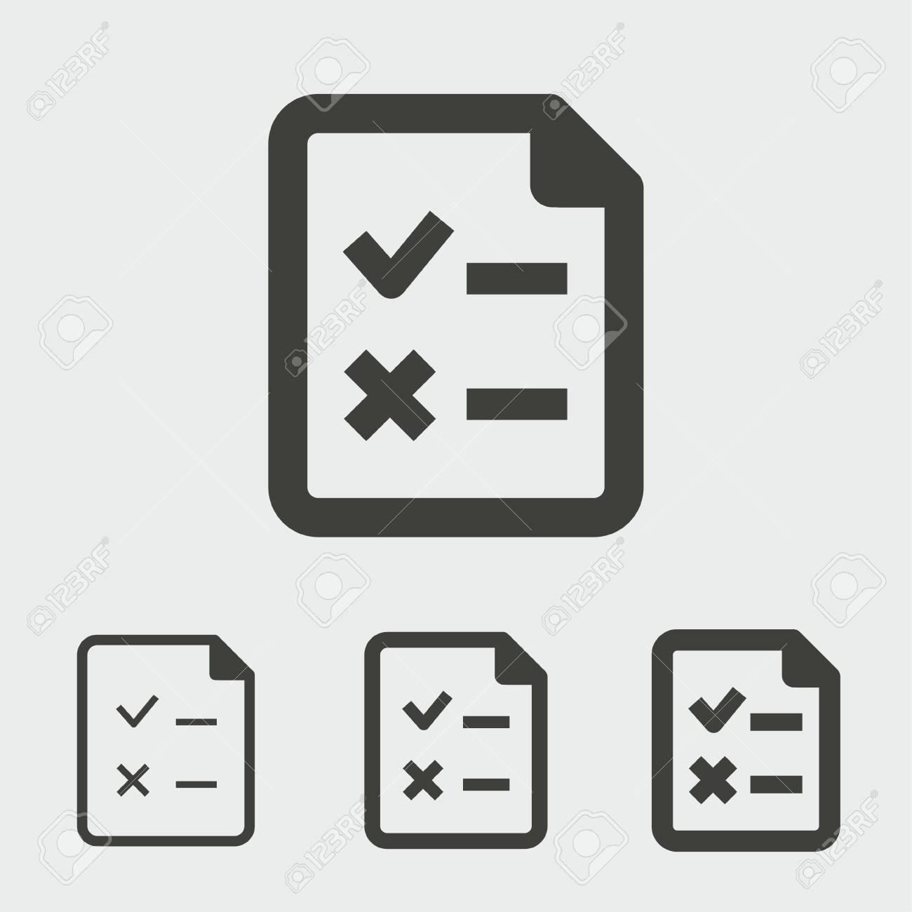 Survey vector icon. Black illustration isolated for graphic and web design. - 114807491