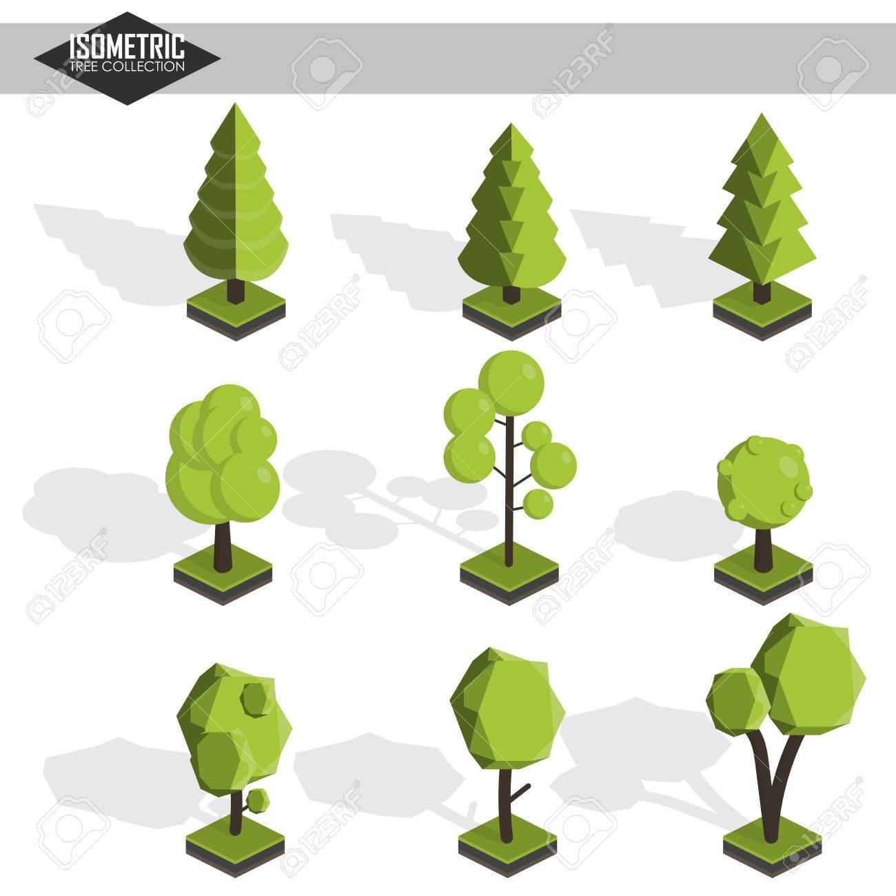 Isometric vector tree set - 45243049