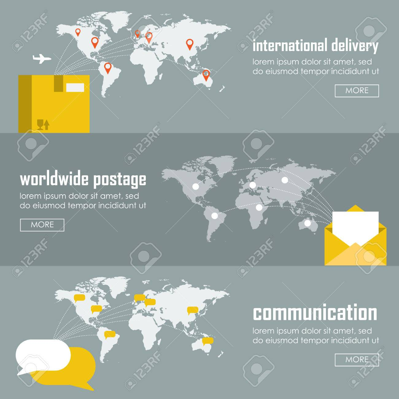 Flat logistics concept of shipping and delivery types. Web vector illustration infographic template set. Process collection: maritime shipment, airmail, ground delivery, ship, plane, aircraft, van. - 45898887