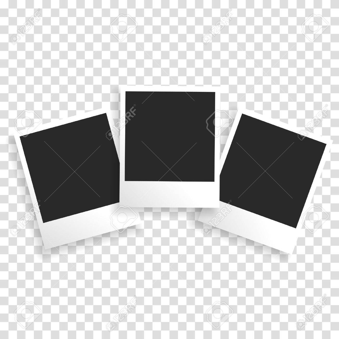 Photo frame on a transparent background with a realistic paper texture and shadow. Can be used to design photo albums, promo, advertising, etc. - 51688793